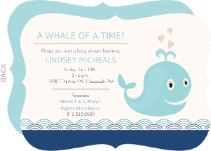 A Whale of a Time Baby Shower Invitation