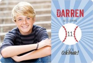 Baseball Boys Birthday Party Invitation Magnet