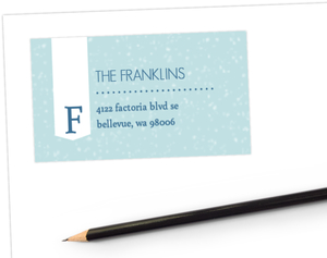 Holiday Sentiments Address Label