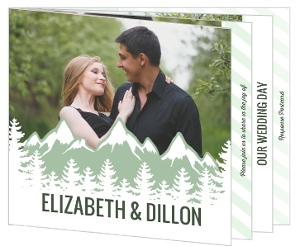 Deep Forest Mountains Booklet Wedding Invitation