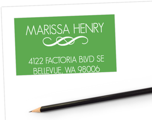 Sophisticated Green Address Label