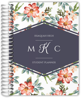 Delicate Watercolor Floral Student Planner