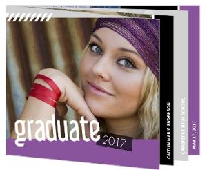 Purple Scrapbook Memories Graduation Invitation