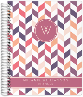 Shades of Pink Chevron Monthly Planner