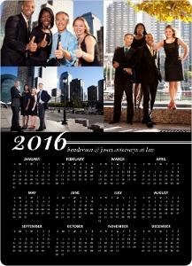 Classic Black Magnet Calendar1
