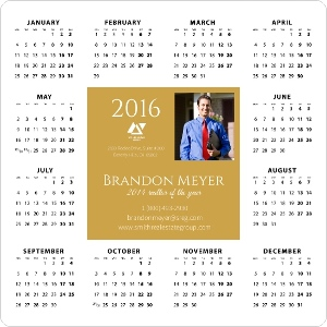 Gold Bar Busienss Magnet Calendar