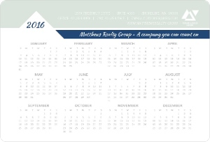 Muted Triangle Accent Real Estate Business Magnet Calendar