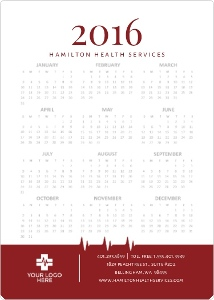 Red Heartbeat Health Service Business Magnet Calendar