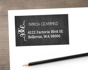 Vintage Chalkboard Photo Wedding Address Labels