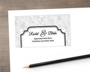 Black And White Lace Address Label