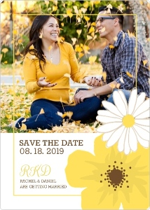 Classic Yellow Flower Save The Date Magnet