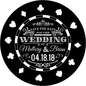 Black Chip Vegas Save The Date Magnet