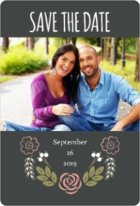 Garden Blossoms Save The Date Cards