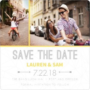 Modern Geometric Pattern Save The Date Card