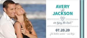 Teal Navy Nautical Anchor Save The Date Announcement