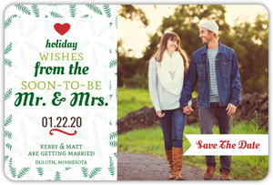 Whimsical Typographic Tree Save The Date Magnet