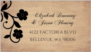 Day Of The Dead Skulls Halloween Wedding Address Label