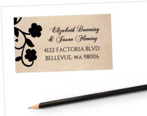Day Of The Dead Skulls Halloween Wedding Address Label