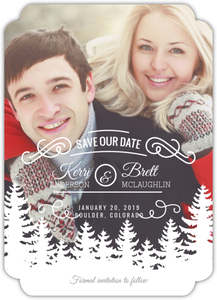 Scenic Winter Trees Save The Date Magnet