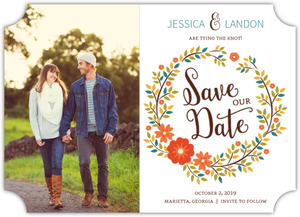 Autumn Wreath Save The Date Magnet