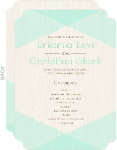 Mint & Rustic Woodgrain Wedding Program