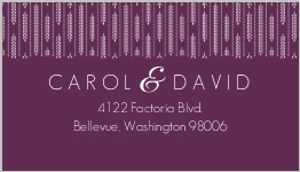 Hanging White Willow  Address Label
