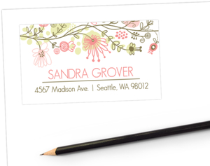 Floral Fun Address Label