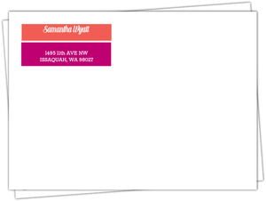 Modern Color Block Custom Envelope