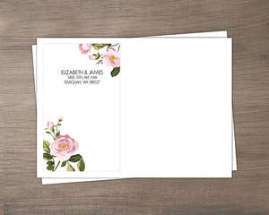 Vintage Burlap Floral Envelope