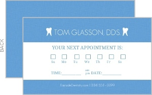 Simple Blue Dentist Appointment Card | Appointment Cards
