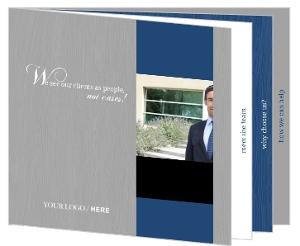 Blue Bar Wood Grain Lawyer Booklet Brochure