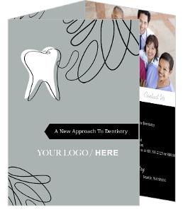 Gray Black Tooth Dental Trifold Brochure