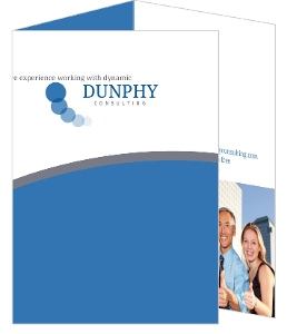 Blue And Gray Circle Business Brochure