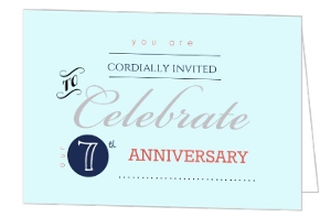 Typographic Anniversary Invitation