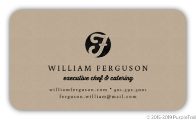 Sophisticated Kraft Custom Business Card