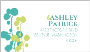 Turquoise And Green Bright Flowers Address Label