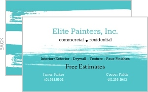 Turquoise Brush Stroke Business Card