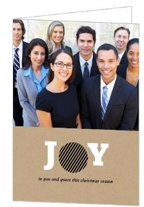 Geometric Joy Business Christmas Card