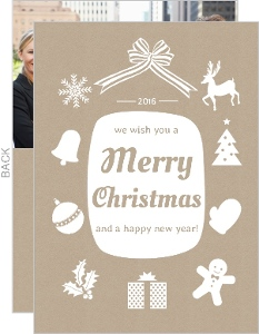 Stenciled Business Christmas Card