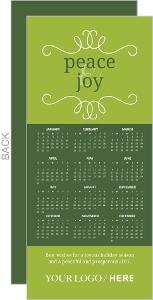 Forest Green Calendar Business Christmas Card