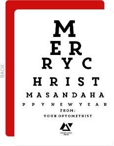 Optometrist Business Christmas Card