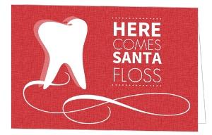 Santa Floss Dental Business Holiday Greeting Card