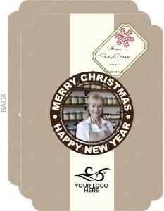 Kraft Gift Tag Business Christmas Card