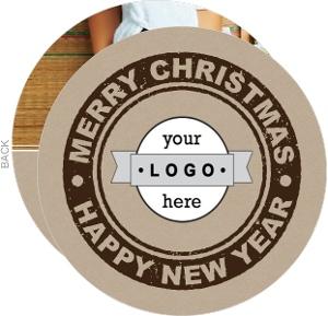 Circle Stamp Christmas Card