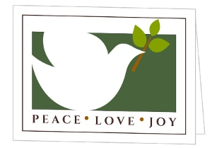 Peaceful White Dove Business Christmas Card