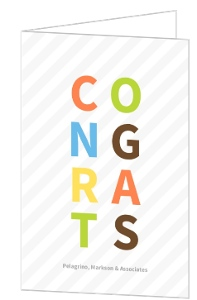 Colorful Modern Congrats Card