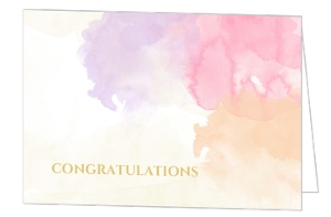 Pastel Watercolor Texture Congratulation Card