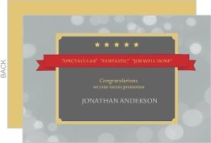 Hollywood Star Congratulation Card