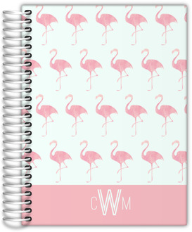 Pink Watercolor Flamingo Student Planner