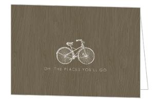 Brown Rustic Wood Grain Congratulations Card